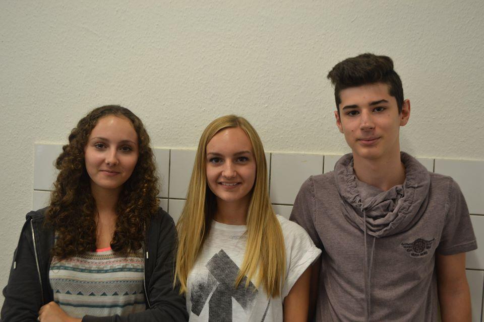 Schülersprecher: Lukas Bärwald Stellvertreter: Anna Fischer (Rechts), Nele Altana (Mitte)und Annika Wunsch (fehlt im Bild)