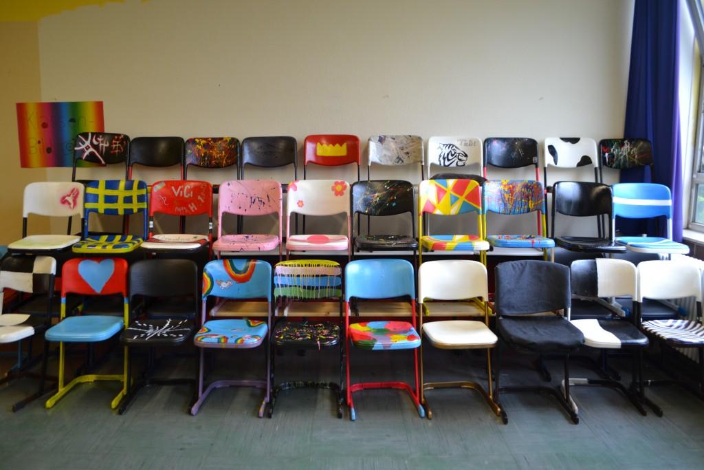Die Stühle der 9b